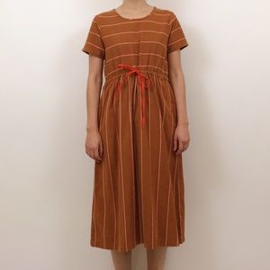 NWT Ace & Jig Camille Dress in Cognac